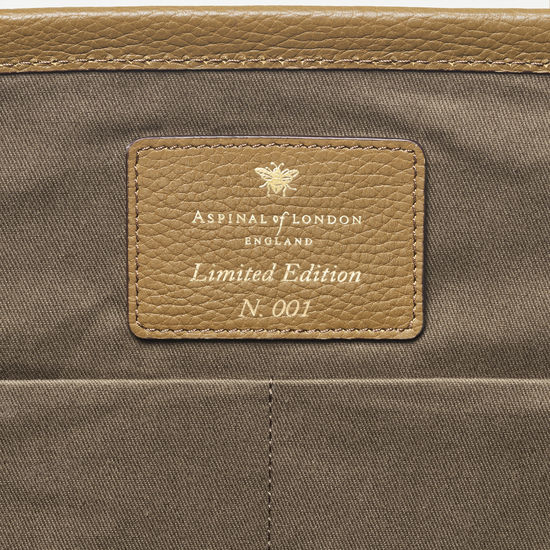 Henley Tote in Khaki Canvas from Aspinal of London