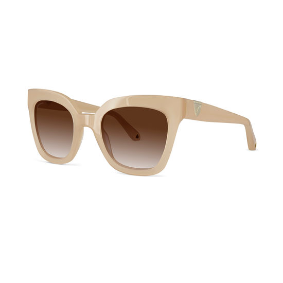 Riviera Sunglasses in Nude Acetate from Aspinal of London