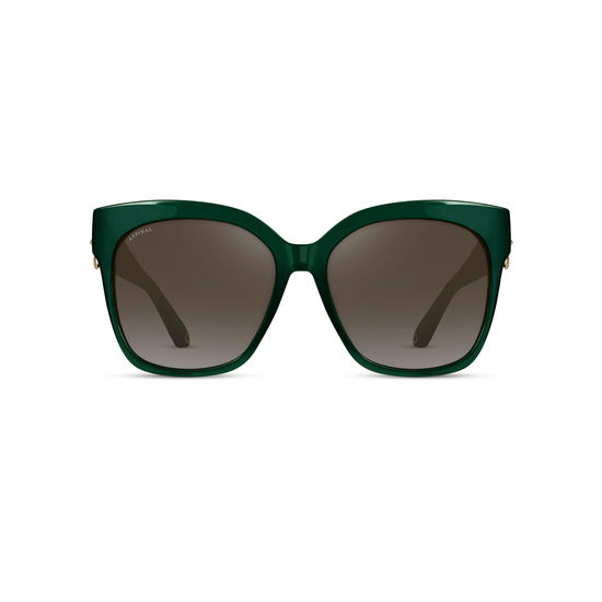 St. Tropez Sunglasses in Evergreen Acetate from Aspinal of London