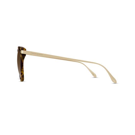 Cap Ferrat Sunglasses in Tortoiseshell Acetate & Gold from Aspinal of London