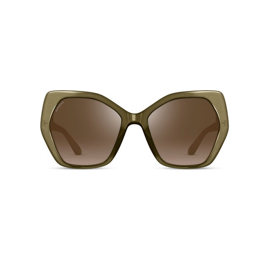 Ladies' Sorrento Sunglasses in Olivine Acetate from Aspinal of London