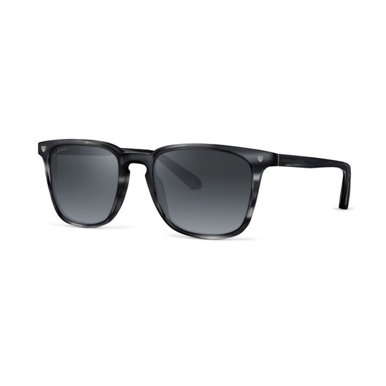 Biarritz Sunglasses in Obsidian Acetate from Aspinal of London