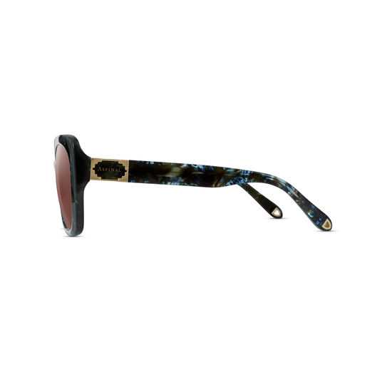 Palermo Sunglasses in Blue Opal Acetate from Aspinal of London