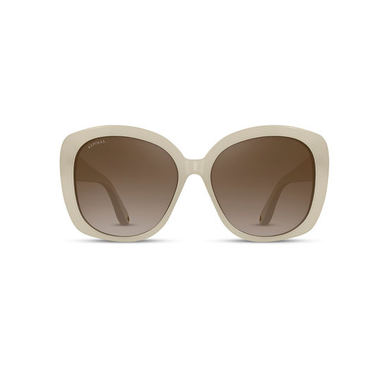 Monaco Sunglasses in Ivory Acetate from Aspinal of London