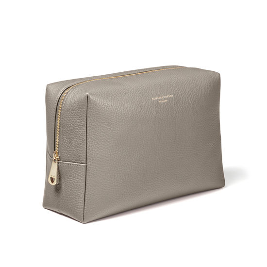 Large London Case in Warm Grey Pebble from Aspinal of London