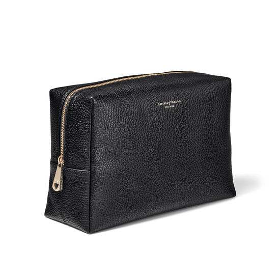 Large London Case in Black Pebble from Aspinal of London