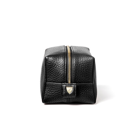 Medium London Case in Black Pebble from Aspinal of London