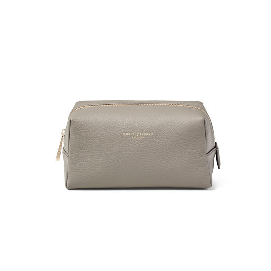 Medium London Case in Warm Grey Pebble from Aspinal of London
