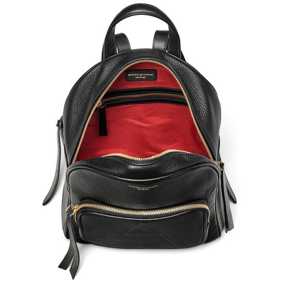 Camera Backpack in Black Pebble from Aspinal of London