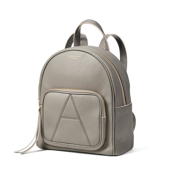 Camera Backpack in Warm Grey Pebble from Aspinal of London