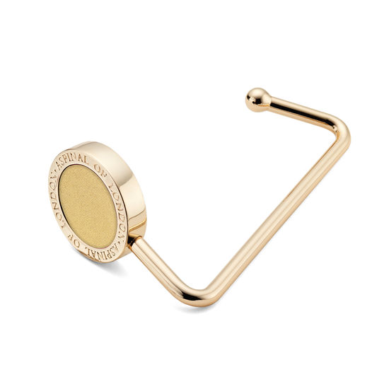 Aspinal Handbag Hook in Old Gold Sparkle from Aspinal of London