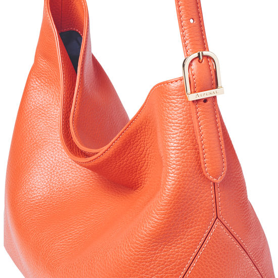 Aspinal Hobo Bag in Marmalade Pebble from Aspinal of London
