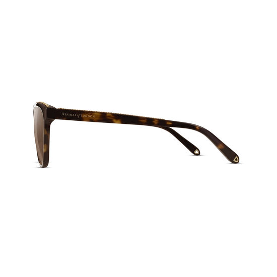 Florence Sunglasses in Tortoiseshell Acetate from Aspinal of London