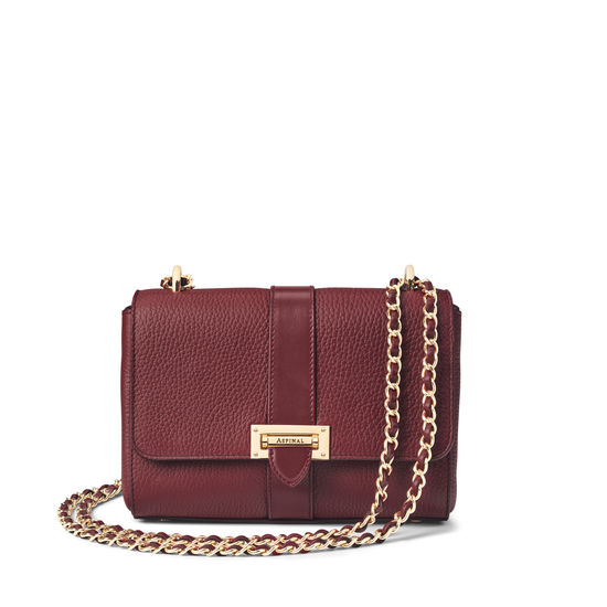 Lottie Bag in Bordeaux Pebble from Aspinal of London