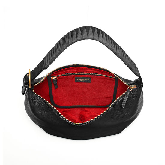 Alice Hobo in Black Pebble from Aspinal of London