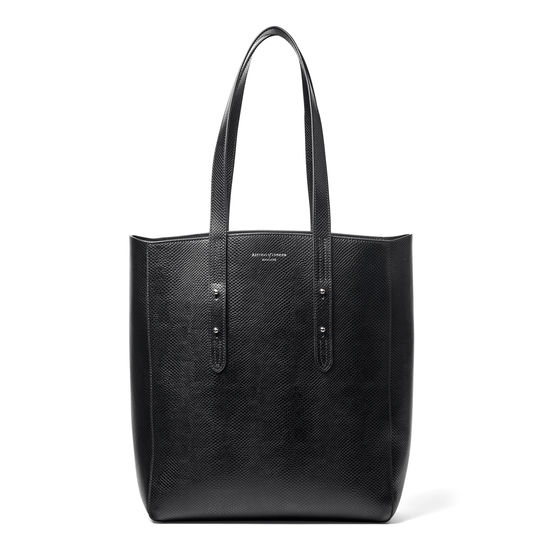 Aspinal Essential Tote in Black Lizard from Aspinal of London