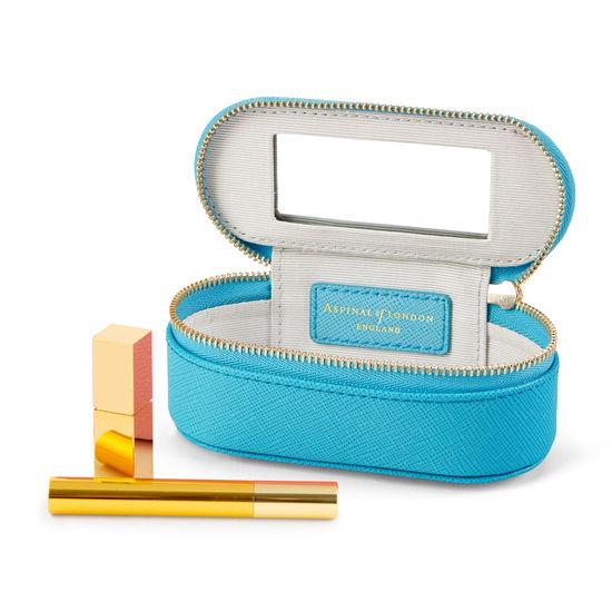 Handbag Tidy All in Bright Blue Saffiano from Aspinal of London