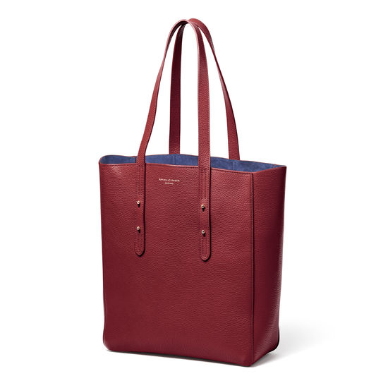 Aspinal Essential Tote in Bordeaux Pebble from Aspinal of London