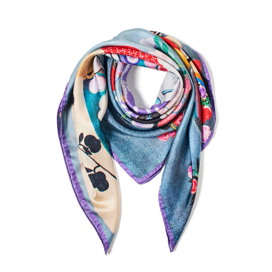 Aspinal x Kojo Marfo - The Majestic Empress Silk Scarf from Aspinal of London