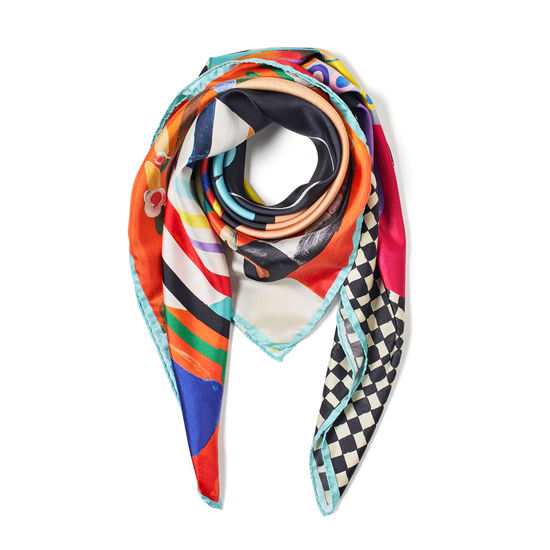 Aspinal x Kojo Marfo - Object of Worship Silk Scarf from Aspinal of London