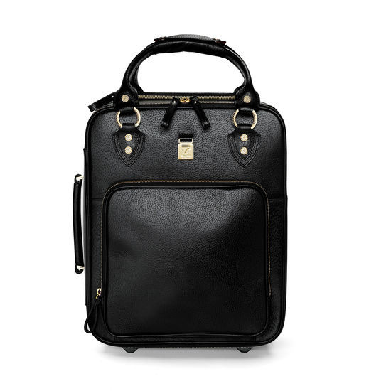 Candy Case in Black Pebble Calf from Aspinal of London