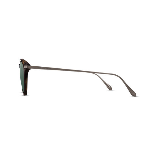 Larvotto Sunglasses in Tortoiseshell Acetate & Gunmetal from Aspinal of London