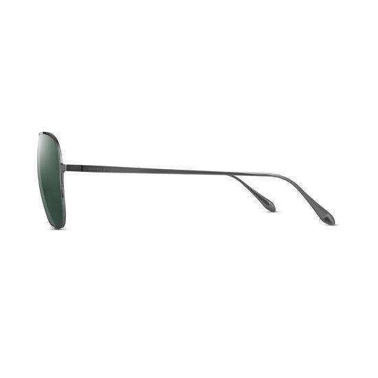 Maranello Sunglasses in Gun Metal from Aspinal of London