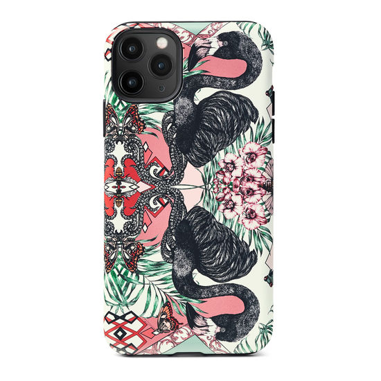 Emily Carter iPhone 11 Pro Max Case - Flamingo from Aspinal of London