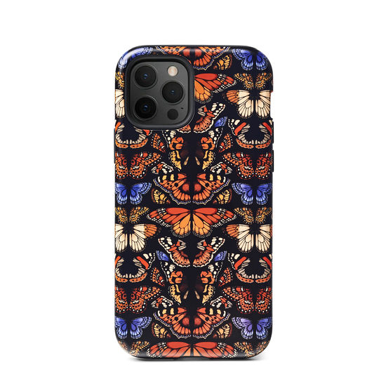 Emily Carter iPhone 12/12 Pro Case - Black British Butterfly from Aspinal of London