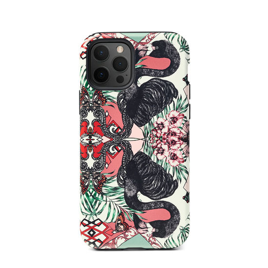 Emily Carter iPhone 12/12 Pro Case - Flamingo from Aspinal of London