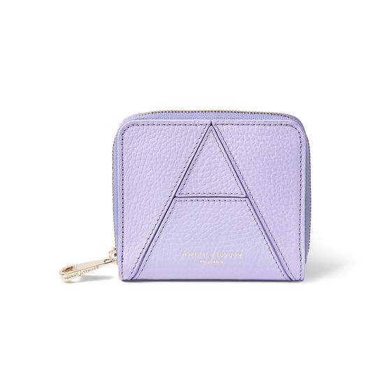 A' Purse in English Lavender Pebble from Aspinal of London