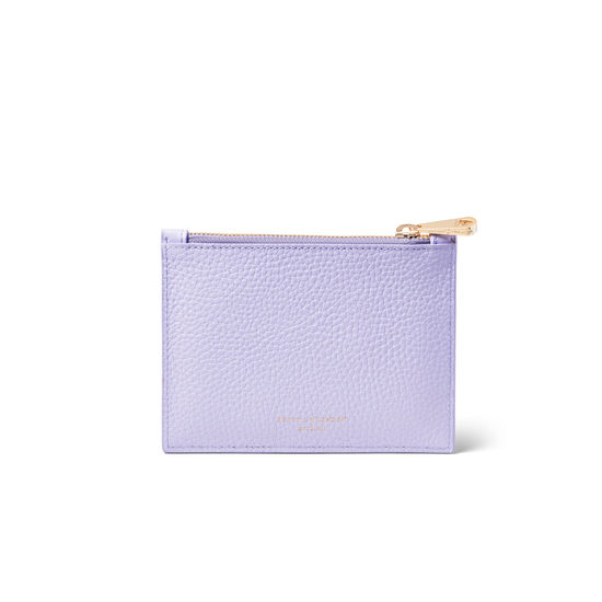 Small Essential 'A' Pouch in English Lavender Pebble from Aspinal of London