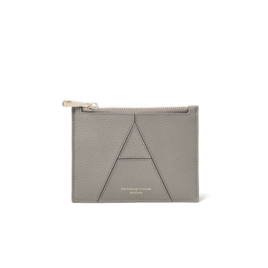Small Essential 'A' Pouch in Warm Grey Pebble from Aspinal of London