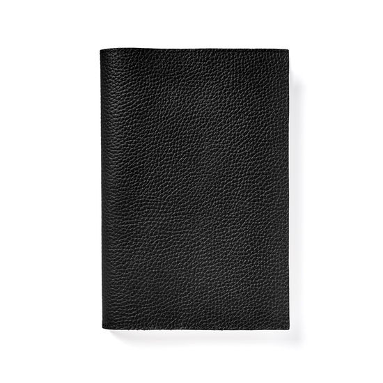 A5 Refillable Journal in Black Pebble from Aspinal of London