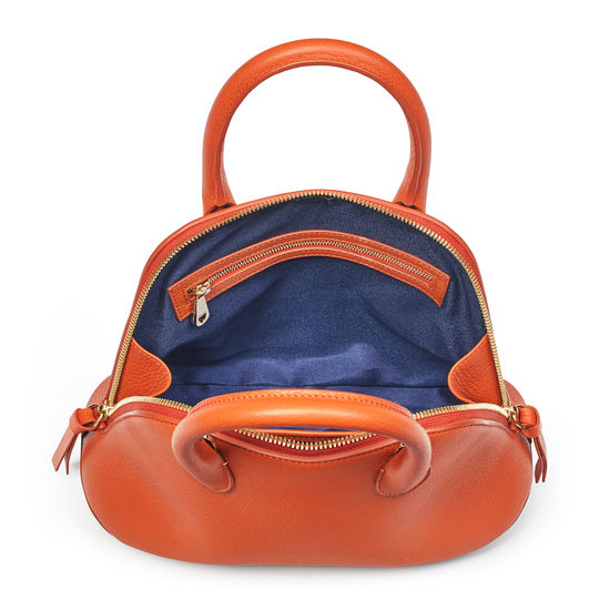 Margot Bag in Marmalade Pebble from Aspinal of London