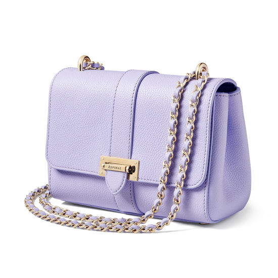 Lottie Bag in English Lavender Pebble from Aspinal of London