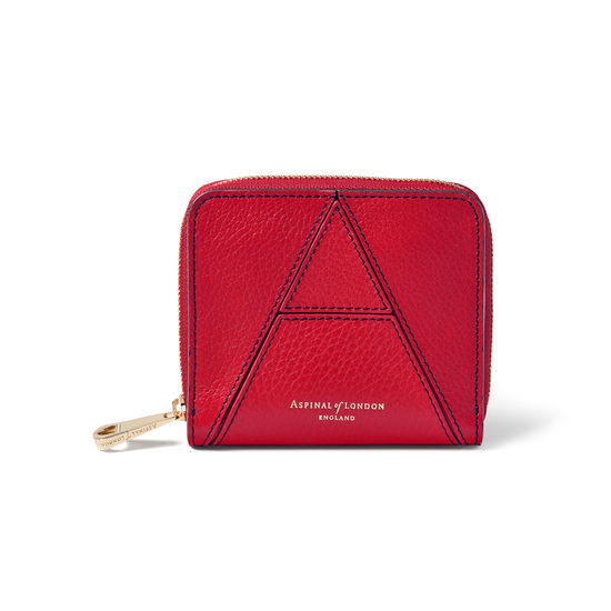 'A' Purse in Cherry Pebble from Aspinal of London