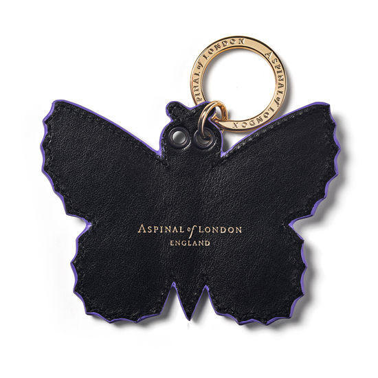 Butterfly Keyring in Smooth English Lavender from Aspinal of London