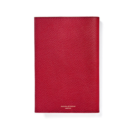 A5 Refillable Journal in Cherry Pebble from Aspinal of London
