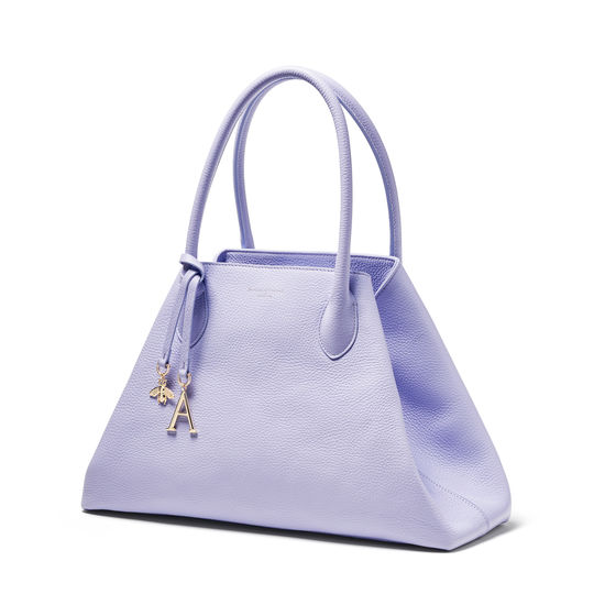 Paris Bag in English Lavender Pebble from Aspinal of London