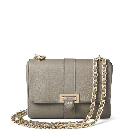 Large Lottie Bag in Warm Grey Pebble from Aspinal of London