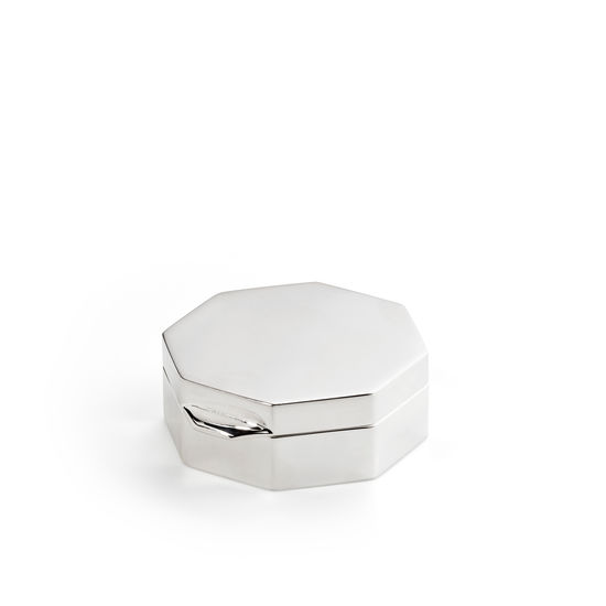 Sterling Silver Octagon Pill Box from Aspinal of London