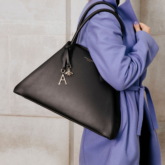 Paris Bag in Smooth Black from Aspinal of London