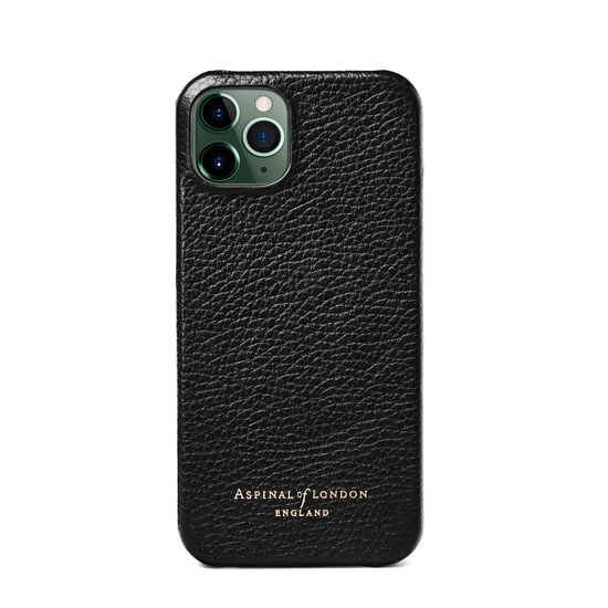 iPhone 13 Case in Black Pebble from Aspinal of London