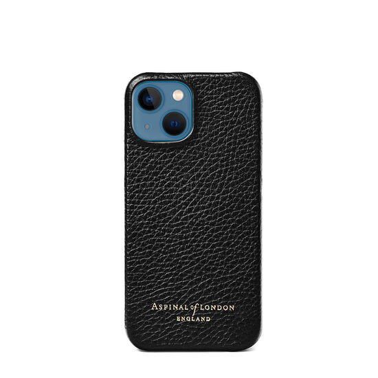 iPhone 13 Mini Case in Black Pebble from Aspinal of London