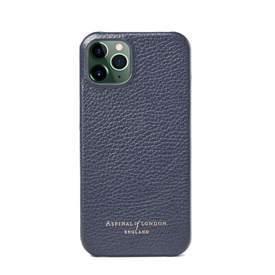 iPhone 13 Case in Navy Pebble from Aspinal of London