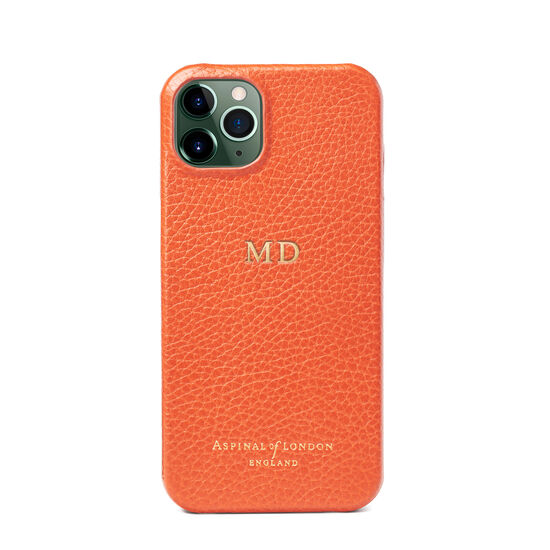 iPhone 13 Case in Marmalade Pebble from Aspinal of London