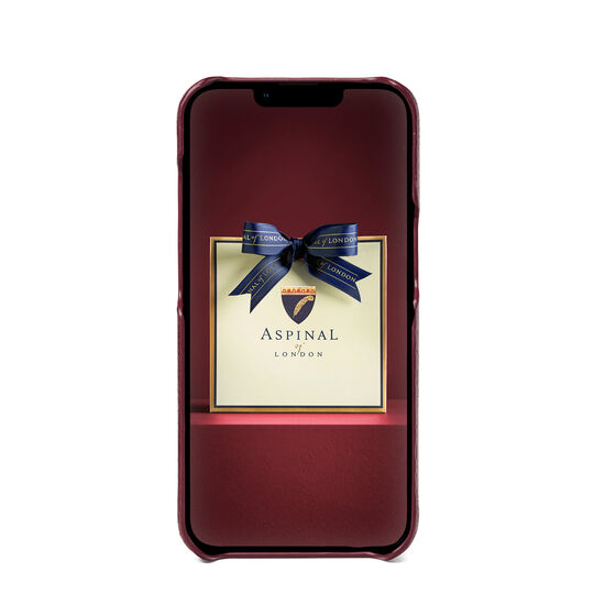 iPhone 13 Case in Burgundy Pebble from Aspinal of London