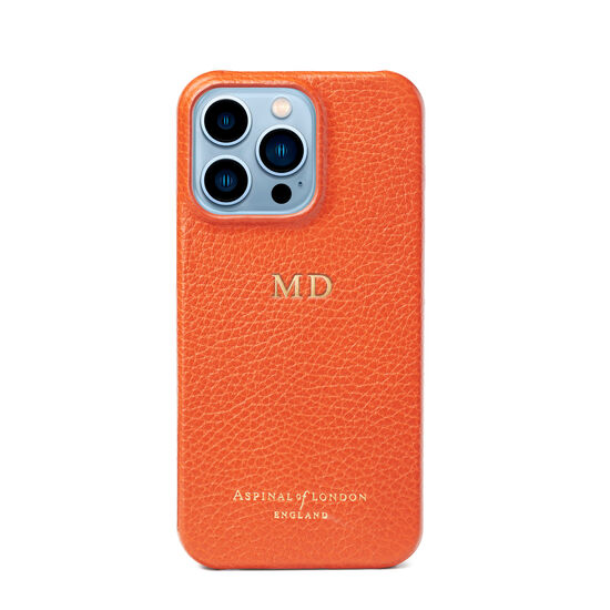 iPhone 13 Pro Case in Marmalade Pebble from Aspinal of London