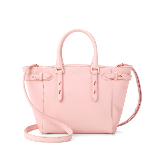 Mini Marylebone Tote in Pink Nappa from Aspinal of London